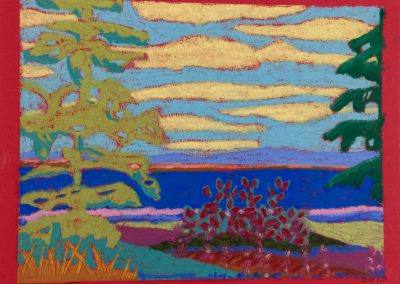 *SOLD* Summer Landscape I, Senellier oil pastel on paper, 18 x 22""