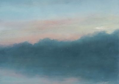Pastel Sky I, oil on board, 11.5 x 11.5""