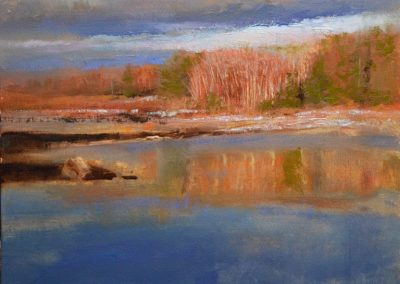 """Spring Thaw, oil on panel, 14x11"""""""