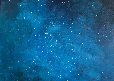 """We Are Made of Stars, oil on canvas, 12 x 12"""""""
