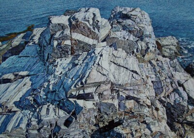 Christopher O'Connor, maine artist, portland, ocean, rocks, coastal, blue, detail, waters, series, ireland