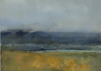 Maggie Hunt, Maine artist, Maine art, abstract, ethereal, abstract landscape, harriman point