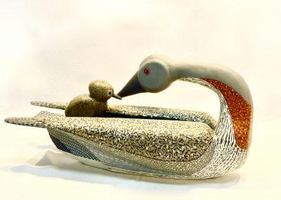 David Sears, Maine Art, bird carving, red throated loon