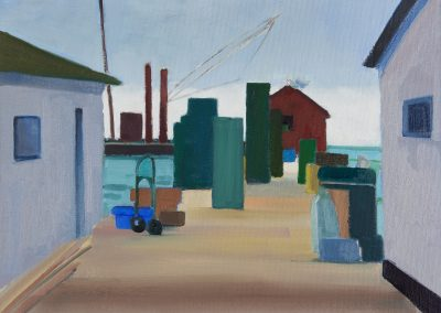 Mary prince, maine, art, artist, contemporary, painting, beale's wharf, waterfront, working, fishing