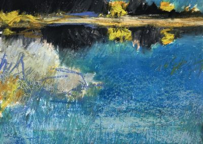 Liddy Hubble, maine artist, art, fine art, oil on linen, contemporary, nature, spring sketch