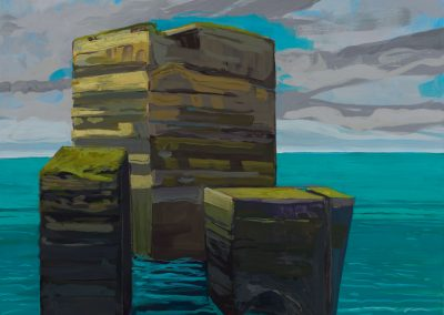 Patricia Ingersoll, Tish, Ireland, maine art, artist, contemporary, rocks, ocean, seastacks