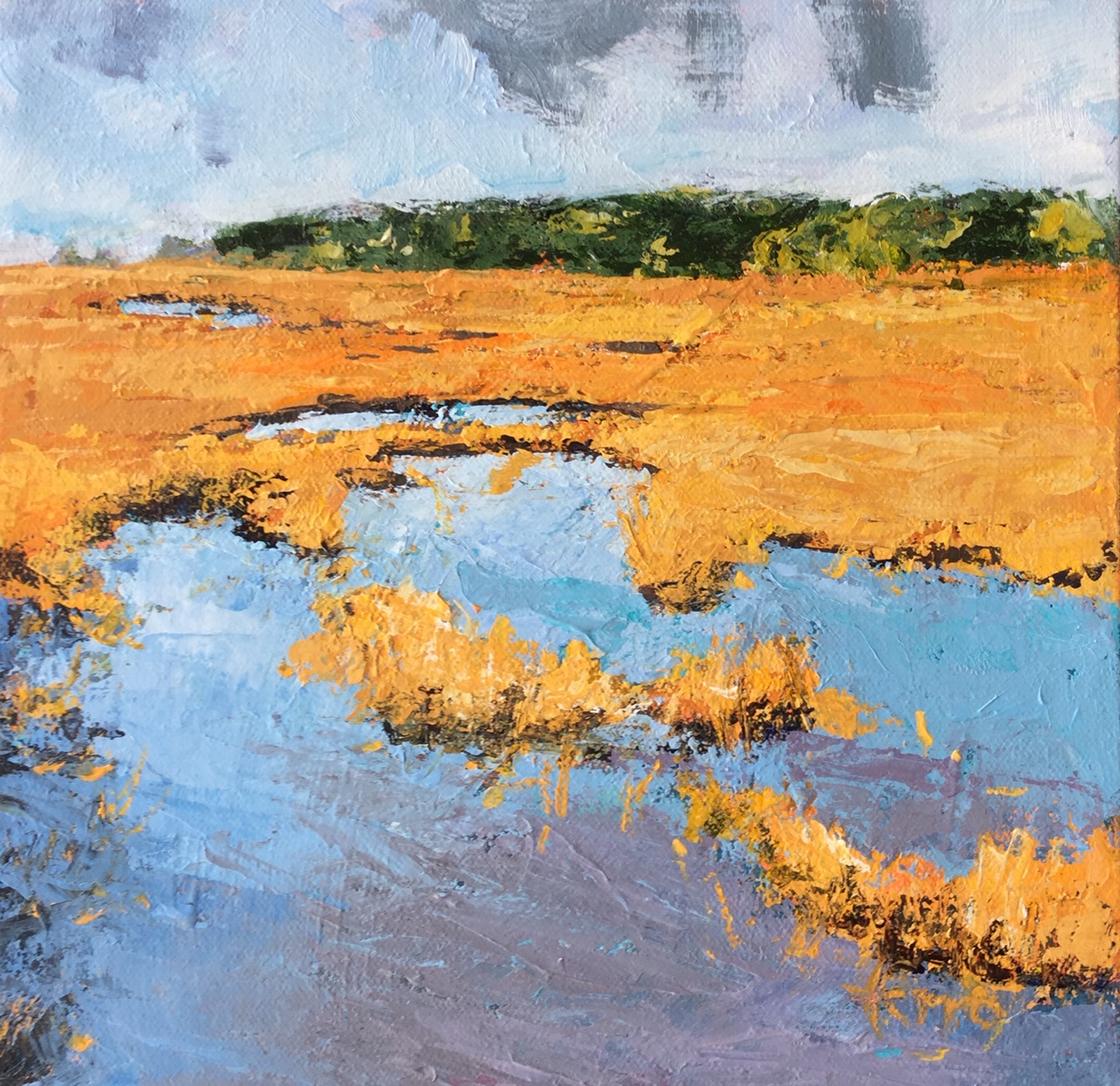 Susan Ferro, maine artist, landscape, small and mighty, quiet marsh