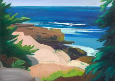 Mary prince, maine, art, artist, contemporary, painting, south from schoodic point, acadia national park