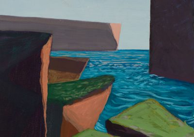 Patricia Ingersoll, Tish, Ireland, maine art, artist, contemporary, rocks, ocean, the inlet