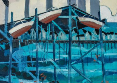 """Town Pier No. 28, oil on canvas, 30 x 24"""""""