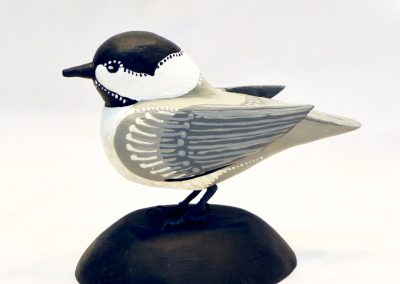 David Sears, Maine Art, maine bird carving, black capped chickadee carving, black capped chickadee sculpture, chickadee sculpture, chickadee carving