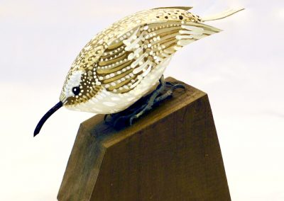 David Sears, Maine Art, maine bird carving, brown creeper carving, brown creeper sculpture
