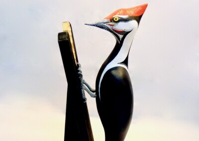 David Sears, Maine Art, bird carving, pileated woodpecker carving, pileated woodpecker sculpture