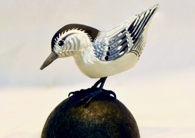 David Sears, Maine Art, bird carving, White-breasted nuthatch carving