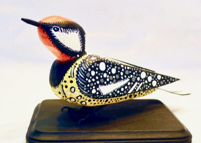David Sears, Maine Art, bird carving, yellow-bellied sapsucker carving