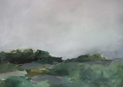 Maggie Hunt, Maine artist, Maine art, abstract, ethereal, at the top, abstract landscape