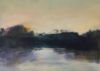 Maggie Hunt, Maine artist, Maine art, abstract, ethereal, abstract landscape, gunthers swamp