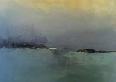 Maggie Hunt, Maine artist, Maine art, abstract, ethereal, abstract landscape, last look