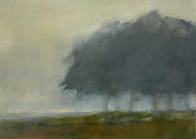 Maggie Hunt, Maine artist, Maine art, abstract, ethereal, abstract landscape, lower field