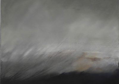 Maggie Hunt, Maine artist, Maine art, abstract, ethereal, abstract landscape, sideways