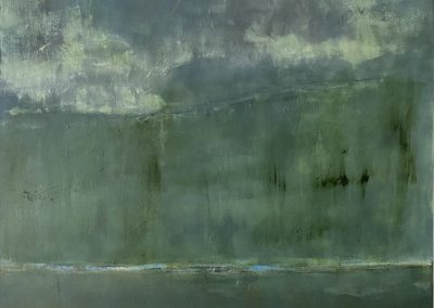 Maggie Hunt, Maine artist, Maine art, abstract, ethereal, abstract landscape, tree line