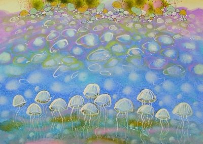 Linden O'ryan, maine watercolor artist, whimsical art, dreamy maine art, sharing luminosity
