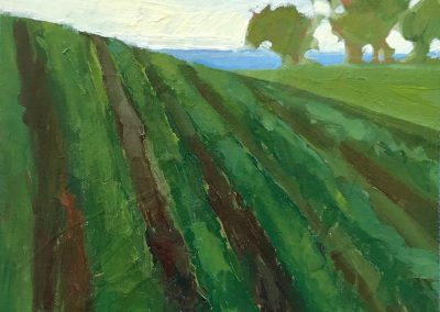 anne holt, maine art, maine landscape, fine art, farm to sea, field