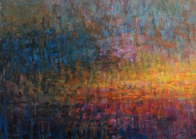 Lyle Salmi, contemporary art, abstract, reflection, Harbor