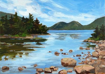 anne holt, maine art, maine landscape, fine art, acadia national park, jordan pond, the bubbles