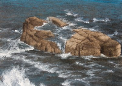 Lisa Lebofsky, maine art, contemporary, ice painting, water, climate change, acadia outcrop, acadia national park