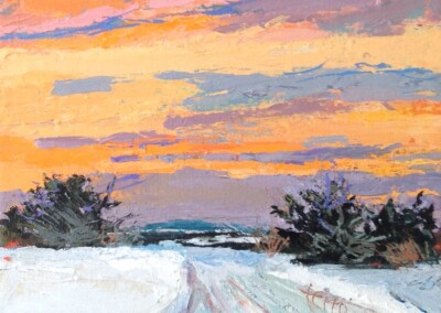 Susan Ferro, maine artist, landscape, small and mighty, for heavens sake