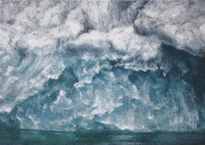 Lisa Lebofsky, maine art, contemporary, ice painting, water, climate change, iceberg underside