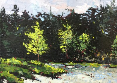 Susan Ferro, maine artist, landscape, small and mighty, On the way to town