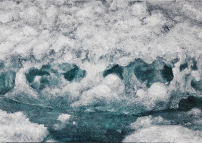 Lisa Lebofsky, maine art, contemporary, ice painting, water, climate change, pack ice detail