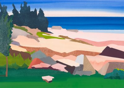 Mary prince, maine, art, artist, contemporary, print, collage, painting, schoodic point, acadia national park