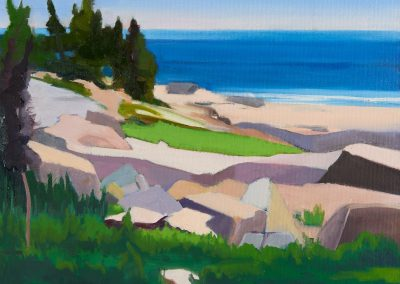 Mary prince, maine, art, artist, contemporary, painting, schoodic point, acadia national park