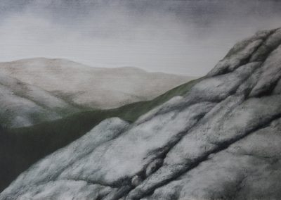 Lisa Lebofsky, maine art, contemporary, ice painting, water, climate change, view point, mountain
