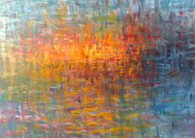 Lyle Salmi, contemporary art, abstract, reflection, fire and ice