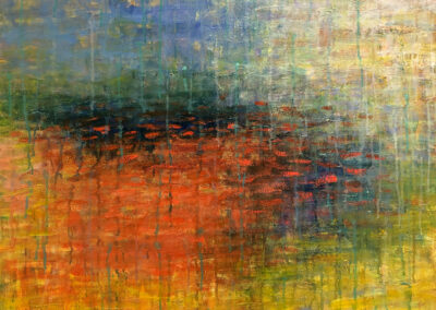 Lyle Salmi, contemporary art, reflection, fine art abstract, glimmer